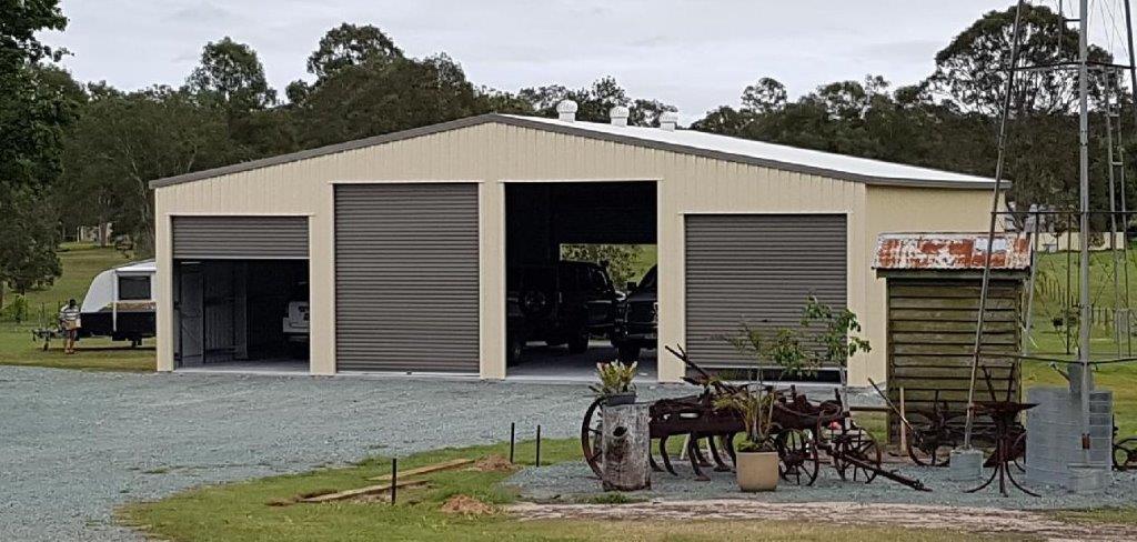 BTS Garage 12m long x 14m wide x 3.6 high; 10 degree pitch