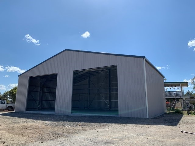 BTS Shed 9m long x 14m wide x 3.9 high;  15 degree pitch;