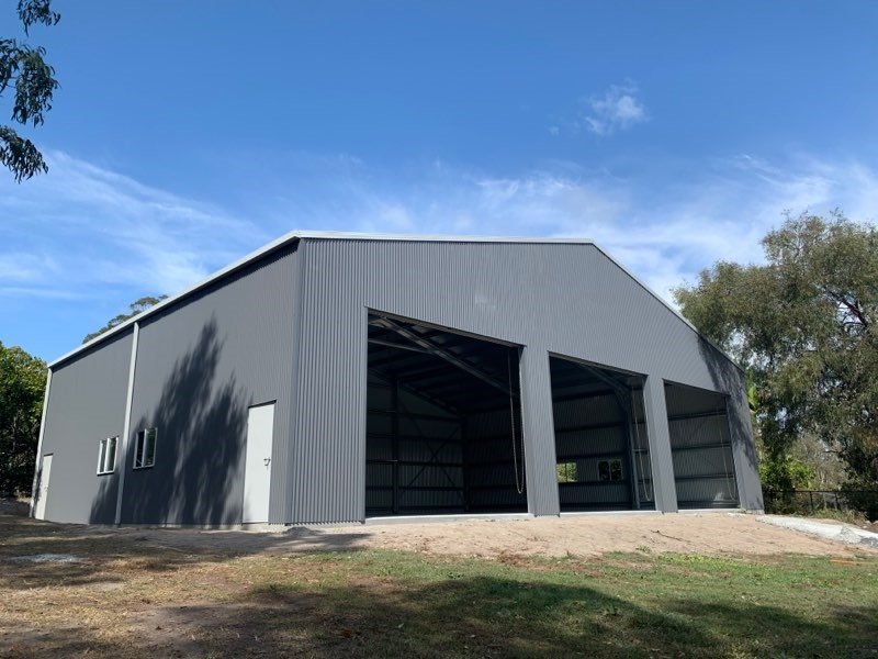BTS Shed - 15m long x 20m wide x 5.1 high,  15 degree pitch